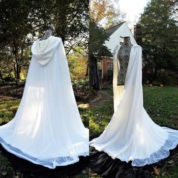 70s capas de boda chaqueta con capa blanco marfil accesorios de novia rebordear personalizado hecho de talla grande Wraps