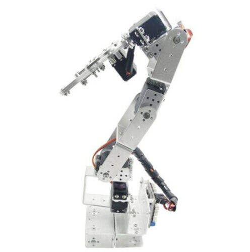 ROT3U 6DOF Aluminium Robot Arm Mechanical Robotic Clamp Claw Black 6dof robotic aluminium robot arm clamp claw