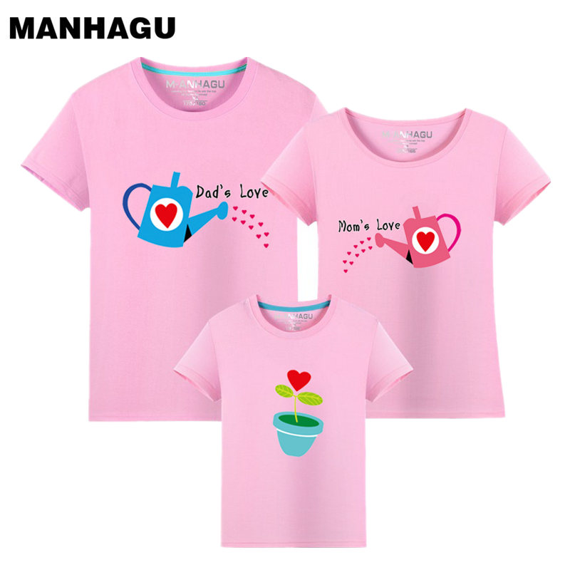 1 Piece Family Cultivate Love Summer Short Sleeve T Shirt