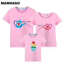 купить 1 piece Family cultivate Love Summer Short-sleeve T-shirt Matching Family Clothing Outfits For Mother Daughter And Father Son дешево