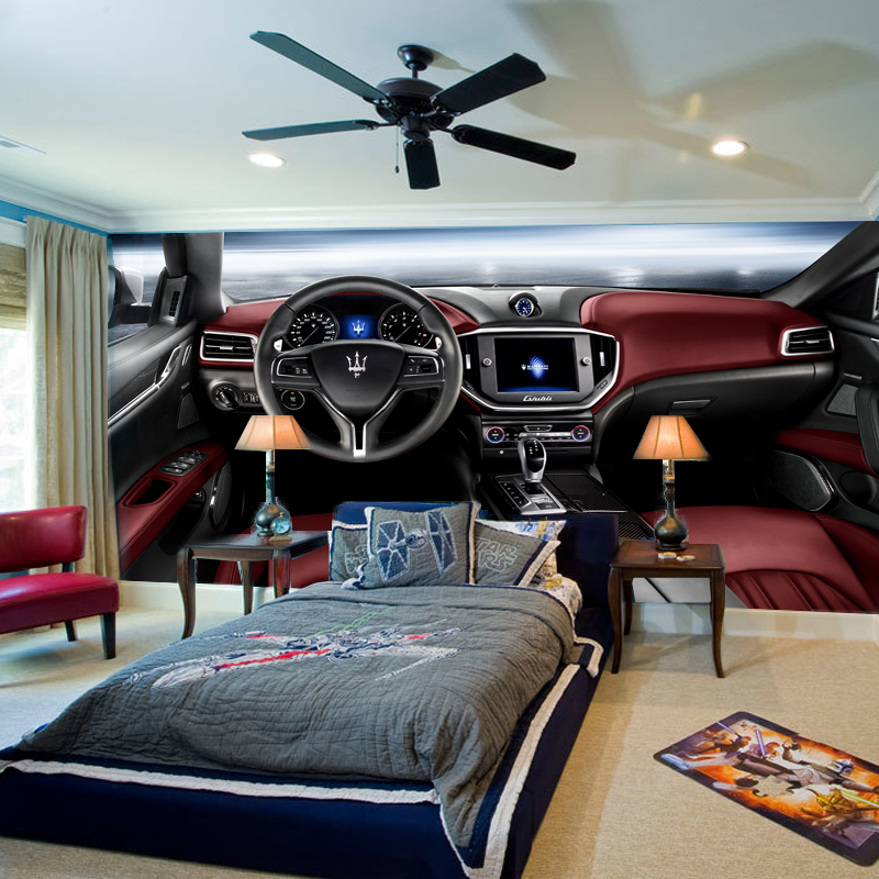 Modern entertainment center reviews online shopping for Car wallpaper mural