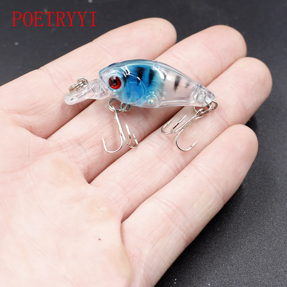 1Pcs Mini Crank fishing bait Bass hard lure 4.5cm 3.7g 9 color Artificial Plastic Wobbler Fishing Lure Fishing Tackle 30pcs set fishing lure kit hard spoon metal frog minnow jig head fishing artificial baits tackle accessories