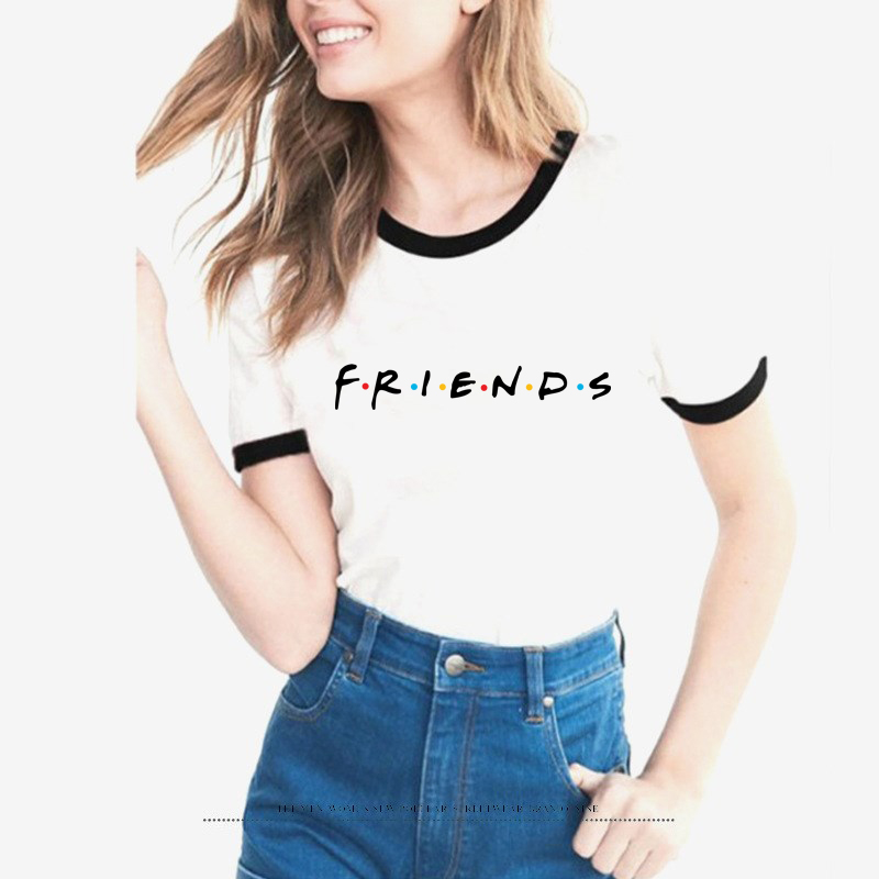 Amici TV T-Shirt Delle Donne Pantaloni A Vita Bassa Camicette femminile Tumblr Graphic T shirt Best Fritture Per Sempre harajuku tees bff Amico Regalo top