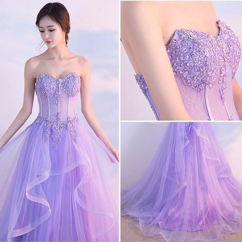 17b50f8adf Darlingoddess Robe De Mariee Beach Wedding Dress 2018 Purple Off The Shoulder  Lace Up Sleeveless Bridal Dress Vestido de Noiva-in Wedding Dresses from ...