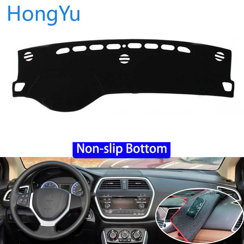 For SUZUKI S.cross 2014 - 2015 Car Styling Non-Slip Bottom Covers Dashmat Dash Mat Sun Shade Dashboard Cover Capter