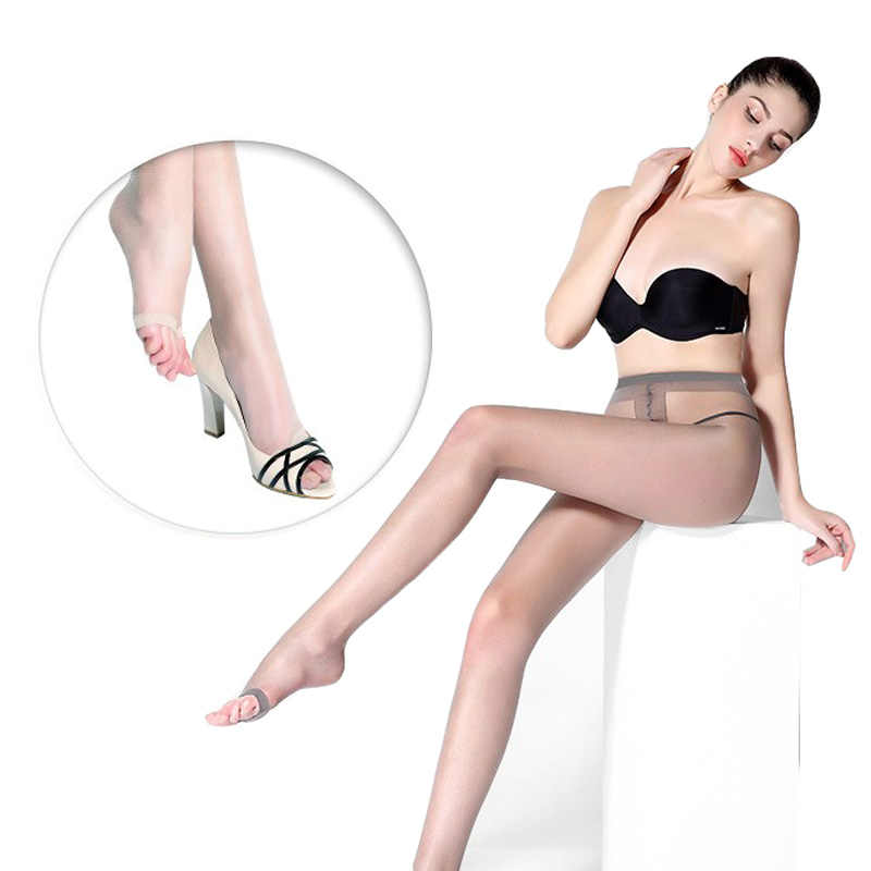 cc14d68a073 1pcs Summer Female Peep Toe Pantyhose Stockings Sexy Ladies Girls Super  Elastic Fish Head Open Toe