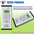 Remote Controller GSM Access Control System Apartment Intercom K6 Door Gate Open Free Charge Call SMS Alarm LCD Screen Keypad