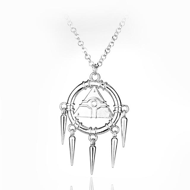 Assassins creed yugioh millenium jewelry necklace pendant pyramid assassins creed yugioh millenium jewelry necklace pendant pyramid egyptian eye ryo bakura necklace for fans aloadofball Images
