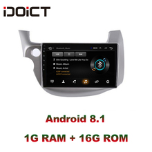 цена на IDOICT Android 8.1 Car DVD Player GPS Navigation Multimedia For Honda Fit Jazz Radio 2008 2009 2010 2011 2012 2013wifi