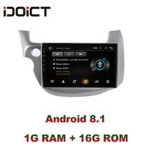 IDOICT Android 8.1 Auto Lettore DVD GPS di Navigazione Multimediale Per Honda Fit Jazz Radio 2008 2009 2010 2011 2012 2013 wifi