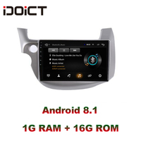 IDOICT Android 8.1 Car DVD Player GPS Navigation Multimedia For Honda Fit Jazz Radio 2008 2009 2010 2011 2012 2013wifi