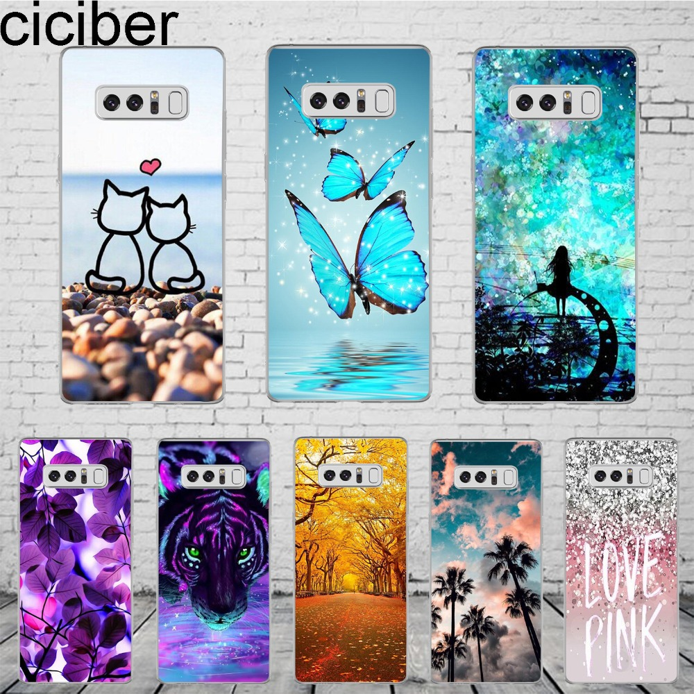 """ciciber For Samsung Galaxy Note 8 Case 3D Fashion Cartoon Cute Phone Cases Soft Silicone Coque For Samsung Note 8 Cover 6.2"""""""