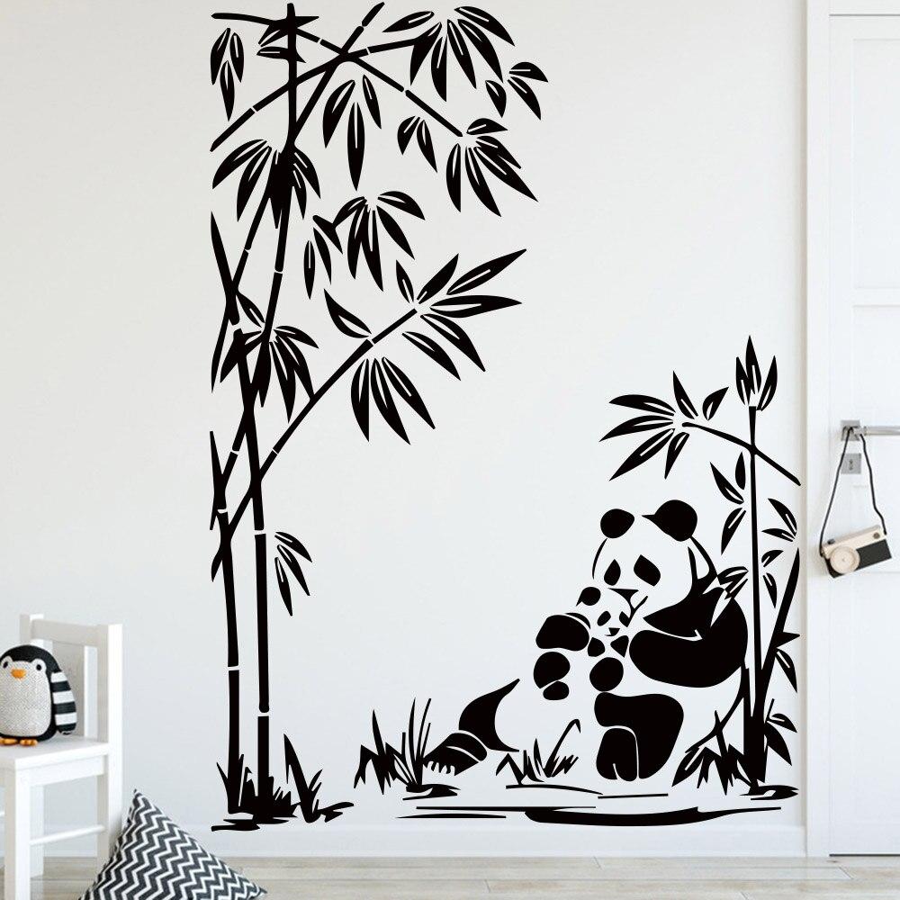 Panda Linda patrón etiqueta de la pared para decoración de ...
