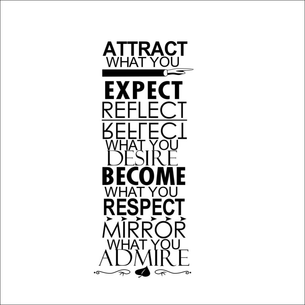 2015 Sale Diy Wall Decor Attract What You Expect Reflect Desire Become Respect Mirror Admire Quotes Wall Art Letters Vinyl Words In Wall Stickers From Home