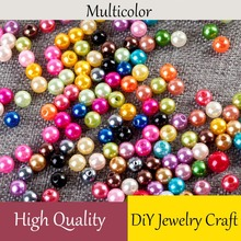 100pcs/lot 4 6 8 10 12MM With Hole ABS Imitation Simulated-pearl Loose Pearls Beads For Jewelry Findings Making DIY Accessories 9mm mix color five pearl beads sewing buttons diy material findings 100 pcs abs imitation pearls clothing package crafts