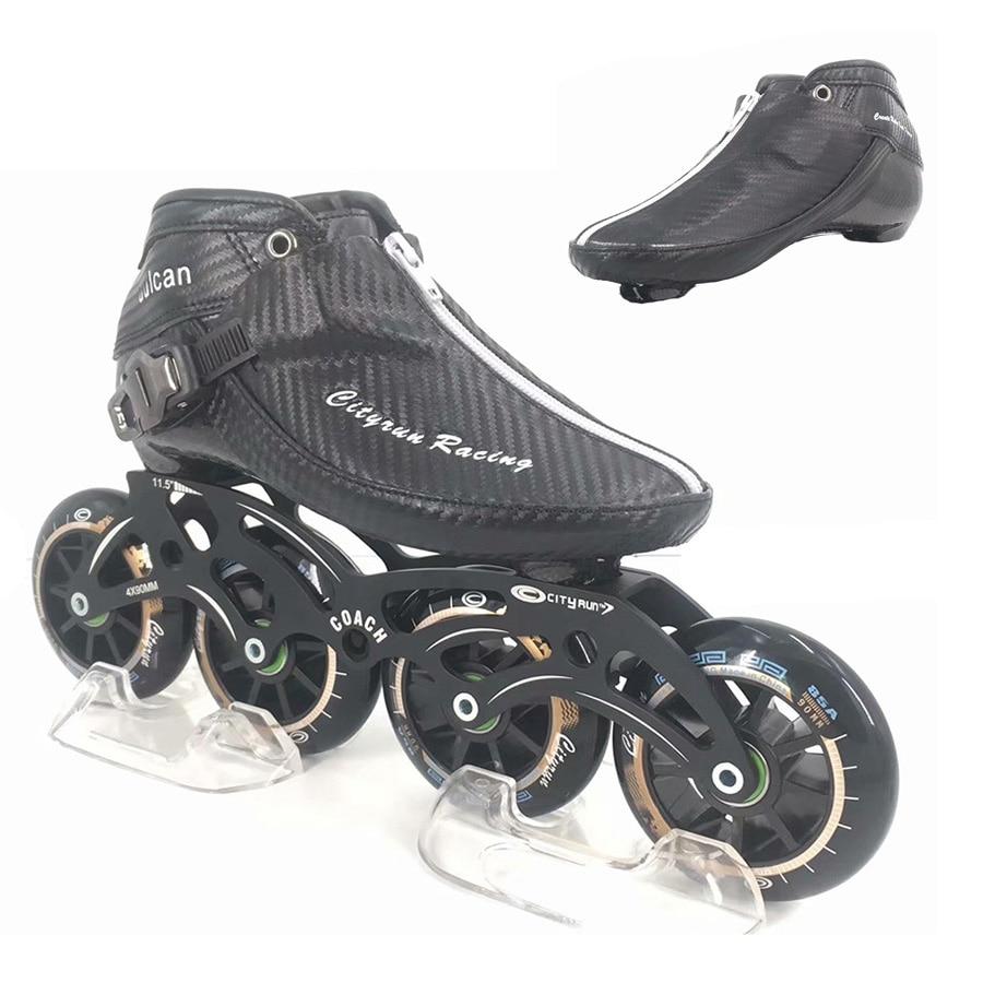 2019 Cityrun Speed Inline Skates EUR Size 30 44 Carbon Fiber Professional Competition Skates 4 Wheels Racing Skating Patines