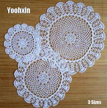 Modern round lace cotton table place mat crochet coffee placemat pad Christmas drink coaster cup mug tea dining doily kitchen modern round lace cotton table place mat crochet coffee placemat pad christmas drink coaster cup mug tea dining doily kitchen