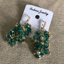 Модные Роскошные милые зеленые хрустальные бусины билирового