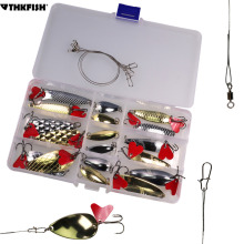 21pcs box Fishing Spoons Set Jig Fishing Lures Metal Spoons Spinner Hard Baits Tackle for Trout