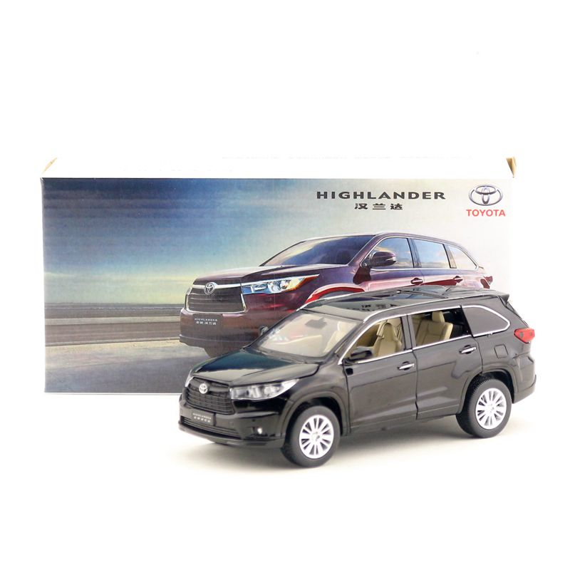 Alloy simulation model car toys 1:32 Toyota highlander SUV car audio and video 1pc