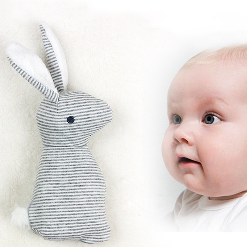 20*8cm Baby Toys 0-1 Year Rattles Mobiles Cute Rabbit Hand Grab Stick Bb Stick Ring Baby Plush Toys