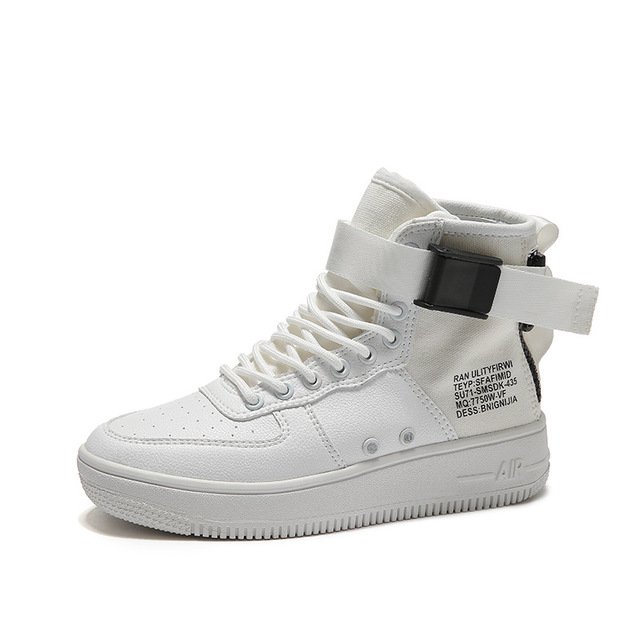 White Sneakers Men Vulcanized Shoes