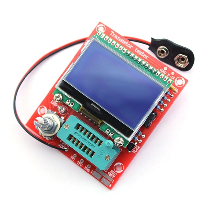 Factory Wholesale Free Shipping DIY M12864 Graphics Version Transistor Tester Kit LCR ESR PWM