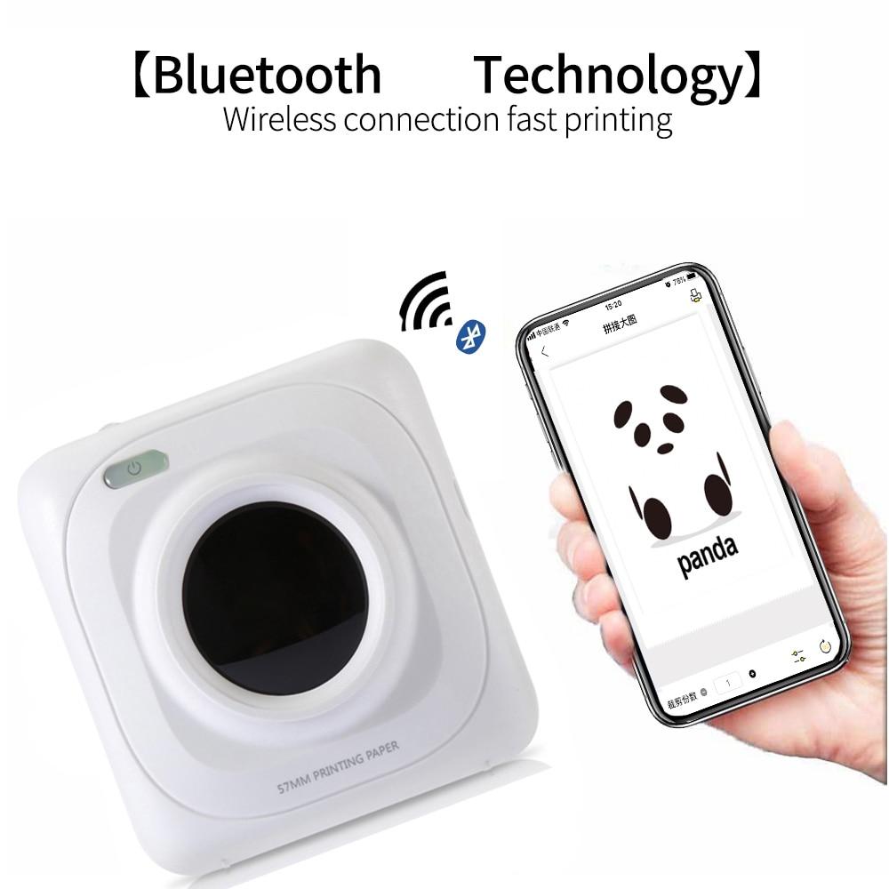 Portátil Bluetooth Pos impresora termal Mini foto impresora para iOS y Android y Windows