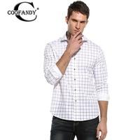 COOFANDY New Casual Shirt Men Dress Shirts Plaid Shirt Long Sleeve Button Down Blouse Plus US
