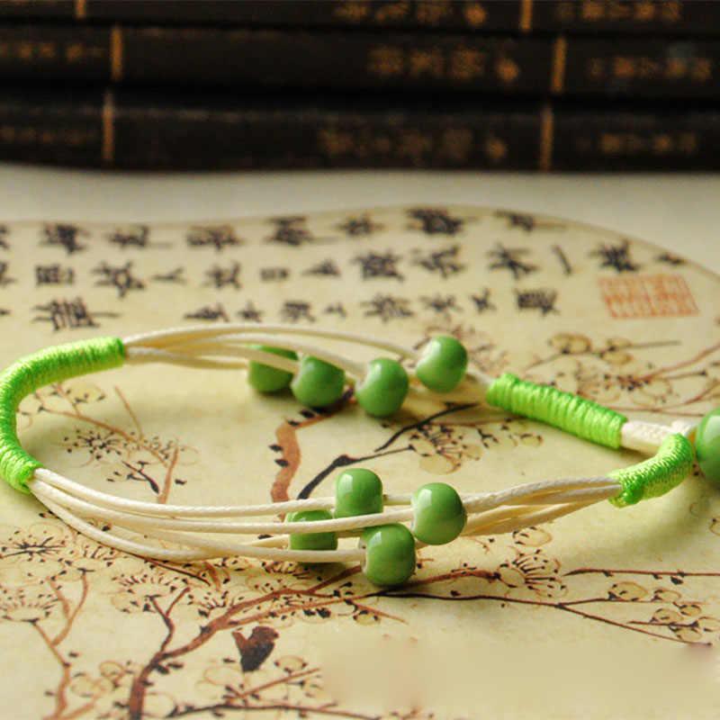 Многослойные браслеты из бисера для женщин и мужчин, керамические бусины, ряд переплетенных веревок, браслеты, модные очаровательные манжеты, браслеты, ювелирные изделия, аксессуары