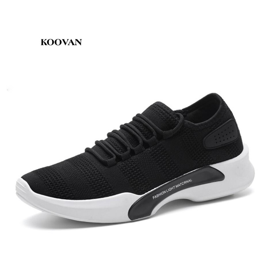 Koovan Men's Sneakers 2018 Spring New Men Shoes Breathable Sports Shoes Casual Footweaer Male Shoes Wholesale koovan men s shoes 2018 spring and summer new cool shoes sports and leisure mesh old man shoes causal shoes for boys