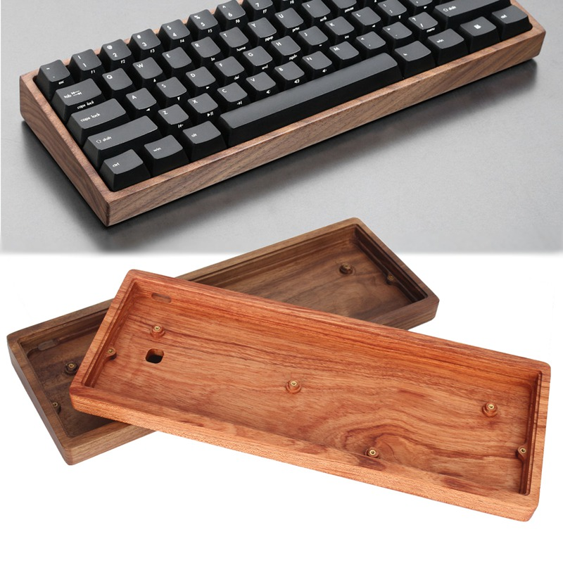 60% Mechanical Keyboard Solid Wood Case Poker Compact Mini GH60 Faceu 60 Keyboard Wooden Shell Base Wooden Frame mechanical keyboard shell base gh60 keyboard case mechanical keyboard shell poker2 base