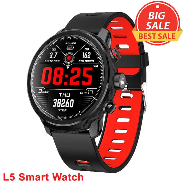 L5 Men Smart Watch IP68 Waterproof Heart Rate Monitor Fitness Tracker Wristband Bluetooth Wristwatch Smart Band Sport Smartwatch
