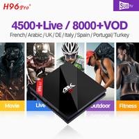 H96 Pro + IPTV Франции S912 Восьмиядерный Android 7,1 IPTV коробка 3 ГБ 32 ГБ 4 К с SUBTV 1 год Франции арабский Бельгии португальское IPTV Италия