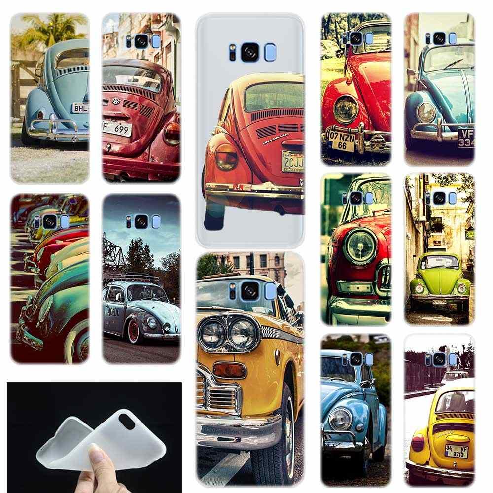 Винтаж VW Beetle Мягкие TPU силиконовые телефон задняя крышка для Samsung Galaxy S6 S7 край S8 S9 плюс S10 плюс lite Примечание 8 9