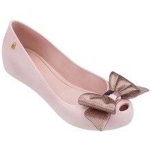 Melissa Style Women Sandals Bowtie  Summer Ladies Female Shoes Non-slip Jelly Breathable