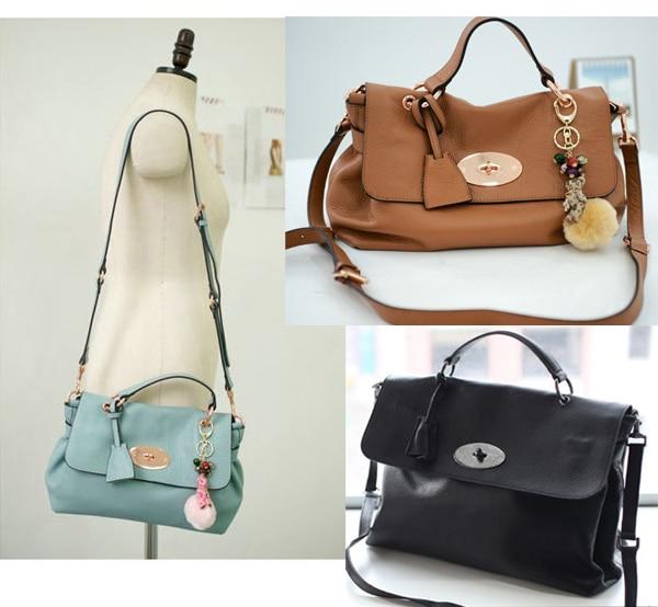 High Quality Cute Women Soft Leather Bags Genuine Leather Handbag Vintage  Messenger Bag Korean style COWHIDE Totes Shoulder Bag 1556d3c2823db
