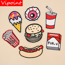 VIPOINT embroidery beverages patches foods badges applique for clothing XW-18
