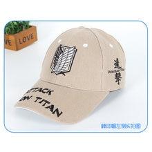 Gorras de béisbol de ataque Anime en Titán hombres mujeres Ropa Accesorios  sombreros Naruto casquillos ocasionales ajustables pa. aadb0f3eff2