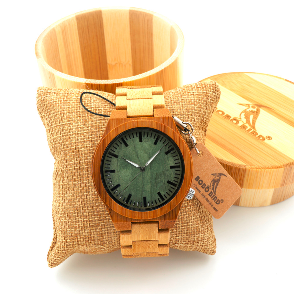 BOBO BIRD Brand Bamboo Watches with Bamboo Strap Wooden Quartz Watches for Men Japan Movemen Watches