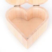 Nuevo organizador de maquillaje, joyeros de madera con forma de corazón, caja de almacenamiento Vintage para regalo de boda, almacenamiento en casa, contenedor, pendientes, anillo