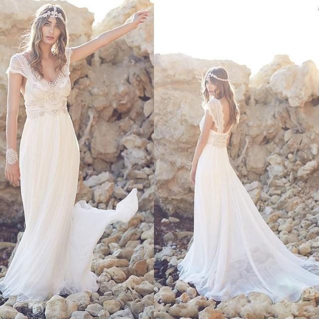 Vestidos para boda en la playa blanco