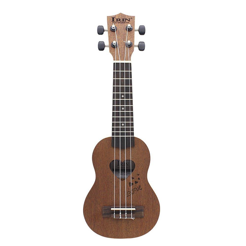 2 PCS of (Good Deal 17 Mini Ukelele Ukulele Spruce/Sapele Top Rosewood Fretboard Stringed Instrument 4 Strings with Gig Bag )