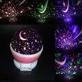 Romântico Coloridas Girando Projetor Luz Conduzida Da Noite Estrelado Estrela Lua Céu Crianças Lâmpadas Noite de Sono Do Bebê Crianças do Presente do Valentim