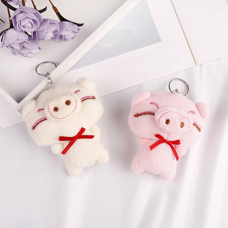 Kawaii Stuffed Animals Cute Plush Pig Toys  Baby&Girls&boys Birthday Gifts And As Car Buckle/keychain/small Pendant