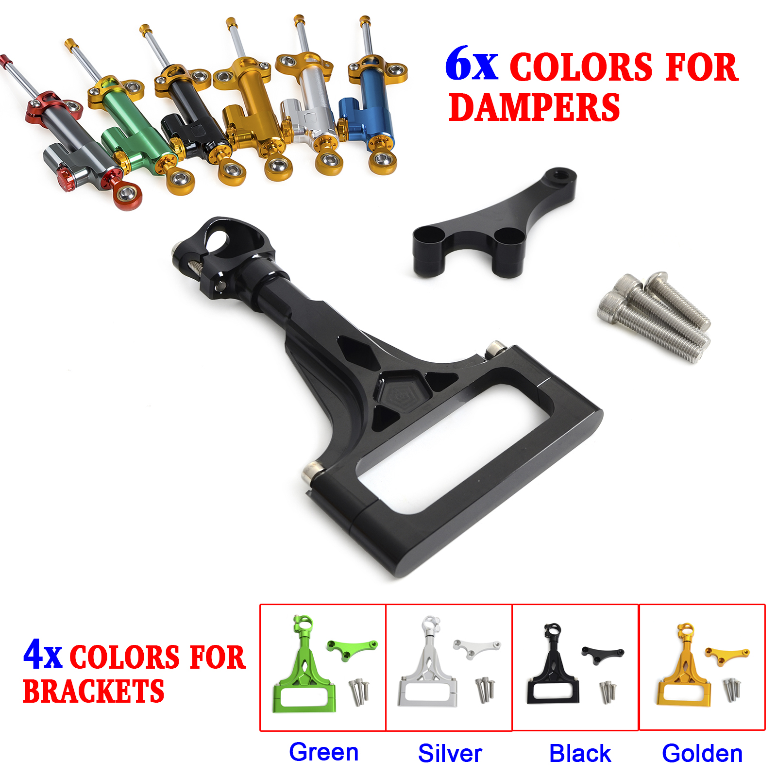 Motorcycle CNC Steering Damper Stabilizer & Bracket for Kawasaki Z750 ABS 2003-2012 Z750R 2011 2012 Z1000 ABS 2003-2009