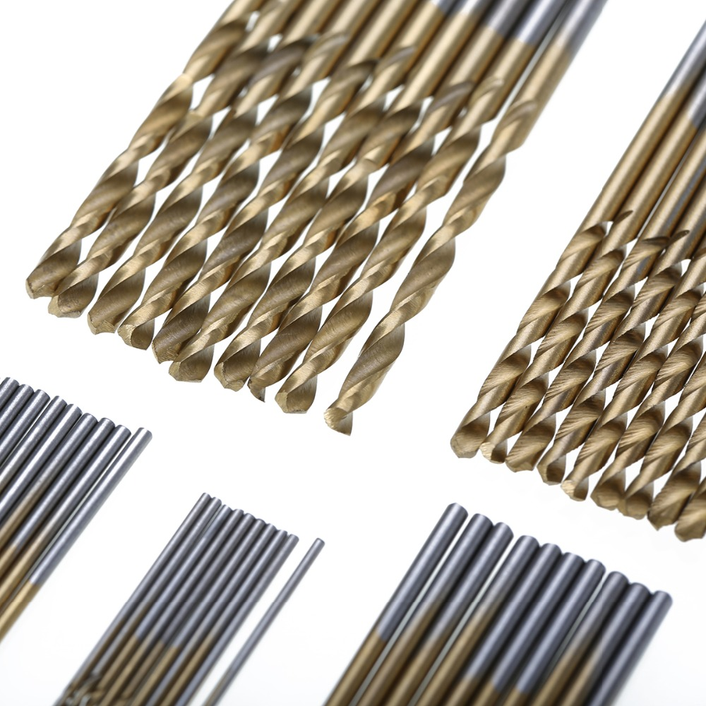 Image 5 - 50Pcs 1 1.5 2 2.5 3mm HSS Titanium Coated Drill Bits High Speed Steel Drill Bit Set High Quality Power Drilling Tools for Wood