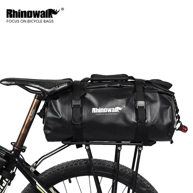 RHINOWALK 2018 Велосипедный спорт корзины сзади стойки Сумка Велоспорт путешествия чемодан чехол на велосипед MTB горный велосипед упаковк