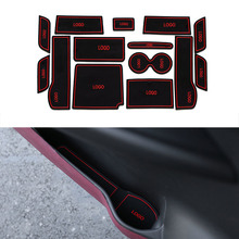 14Pcs/Set Car Styling Slot Pad Interior Door Groove Mat Latex Anti-Slip Cushion For Honda 9th Accord 2014-2015Internal Dedicated