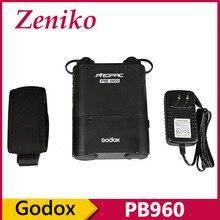 GODOX Black PROPAC PB960 Dual-Output Speedlite Flash Power Battery Pack 4500mAh for Godox ad360 Canon Nikon Flash Black